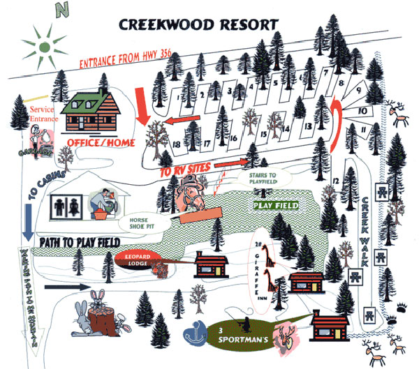 Campground Map | Creekwood Resort - Helen, GA